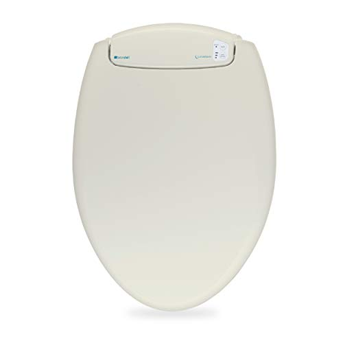 Brondell L60-EB LumaWarm Heated Nightlight Elongated Toilet Seat, Biscuit