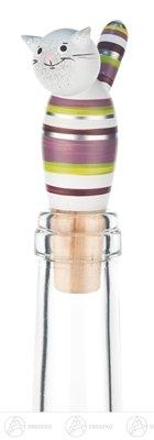 Embotelle el gato del alcohol, altura tocada plata verde violeta del corcho del vino espumoso del corcho del vino de aproximadamente 9 del cm OTRA VEZ montañas del mineral