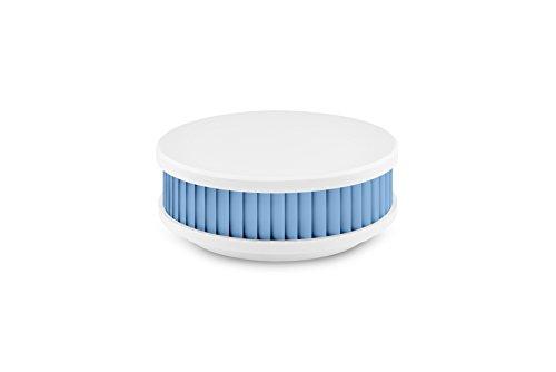 Pyrexx PX-1 12-Jahres-Rauchmelder, Weiß-Himmelblau