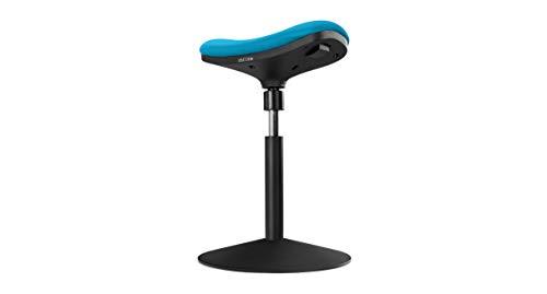 UPLIFT Desk - Crescent Saddle Stool (Turquoise)