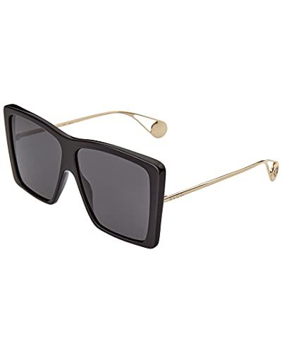 Sunglasses Gucci GG 0434 S- 001 BLACK/GREY GOLD, 61-12-140