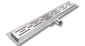 Hahaemall a forma di striscia Doccia in acciaio inox Scarico a pavimento Scarico a canale a canale (600mm)