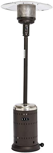 AmazonBasics Commercial Patio Heater, Stainless Steel and Sable Brown