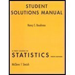 A Student Solutions Manual for First Course in Statistics 0136045197 Book Cover