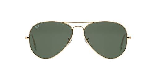 Ray-Ban RB3025I gafas de sol, Dorado (Gestell: gold, Gläser: grün klassisch polarisiert L0205), Large Unisex Adulto
