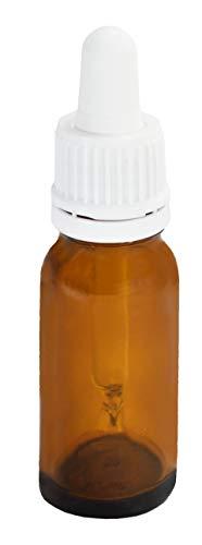 Stockbottle Lot de 10 flacons de pharmacie avec pipette en verre Blanc 30 ml