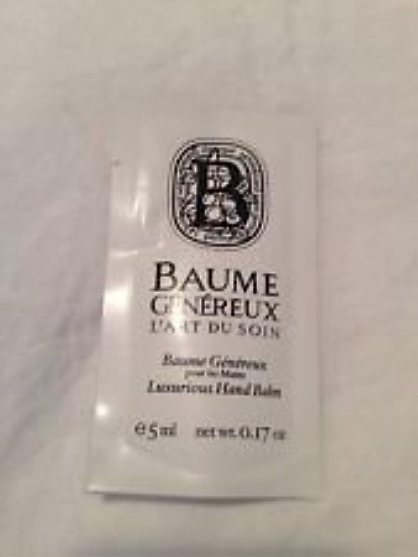 かもしれない前投薬驚きDiptyque Baume Genereux (ディプティック ボーム ジェネリュク) 0.17 oz (5ml) ハンドバルム サンプル for Women