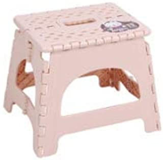 Jaydear Folding Step Stool - Urselection 12 inch Kitchen Stepping Stools,Non Slip Super Sturdy Folding Stool for Kitchen, Bathroom, Bedroom, Kids or Adults, (Pink)