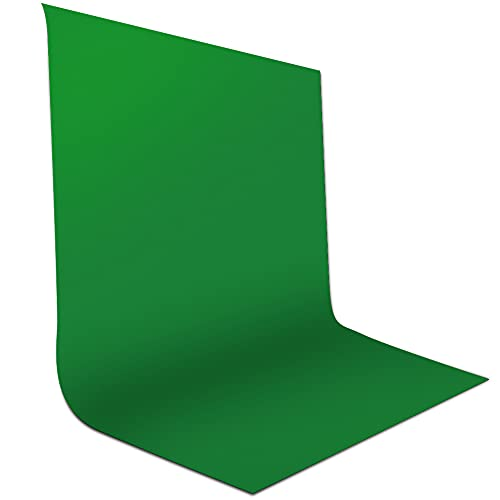 Green Screen, Gadom 1,5 x 2,1m Fotohintergrund Greenscreen Stoff 100% Reine Musselin Faltbare Fotostudio Hintergrund für Fotografie Video Hintergrundsystem Modefotografie