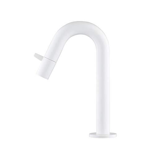 ATCO® CAIRO - Grifo de agua fría con grifo de agua fría y válvula de lavabo, color blanco