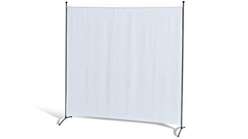 GRASEKAMP Qualität seit 1972 Stellwand 180 x 180 cm - Weiß - Paravent Raumteiler Trennwand Sichtschutz