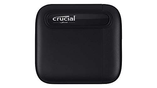 Crucial CT1000X6SSD9 X6 1 TB Portable SSD – Up to 540 MB/s – USB 3.2 –...