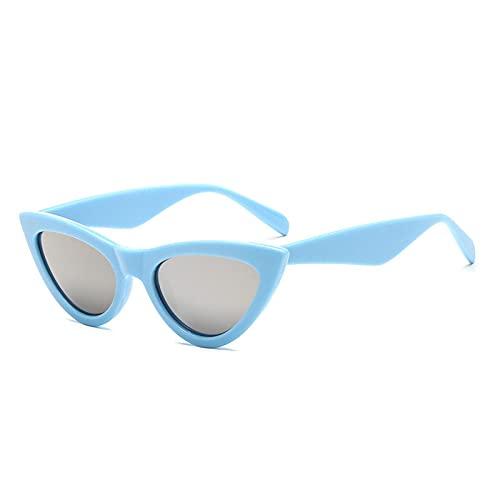 ShSnnwrl Único Gafas de Sol Sunglasses Gafas De Sol De Ojo De Gato Vintage Gafas De Mujer Gafas De Mujer De Moda Azul Rojo 8