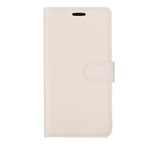PROTECTIVECOVER+ / for Huawei P10 Litchi Texture Horizontal Flip Funda de Cuero con Hebilla magnética y Soporte y tragamonedas y Billetera, Fashion Phone Funda para Protector (Color : Blanco)