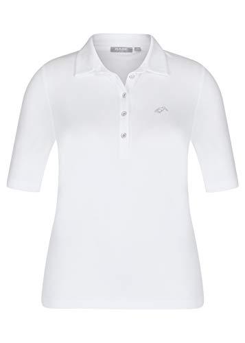 Rabe Damen Poloshirt Uni Weiss - 42