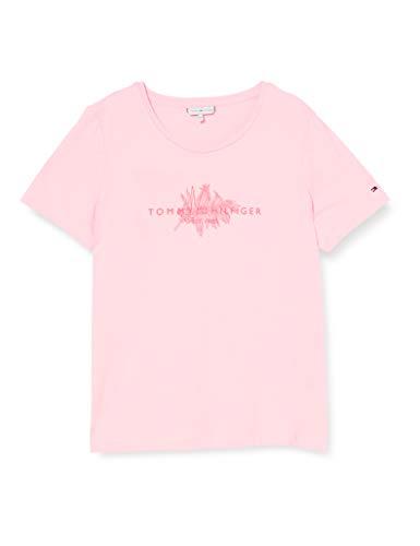 Tommy Hilfiger Damen Babette Regular C-nk Top Ss Hemd, Rosa (Pastel Pink), X-Small