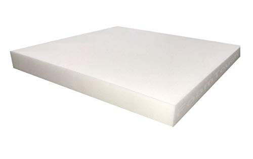 FoamTouch Upholstery Foam Cushion High Density 1' Height x 18' Width x 18' Length Made in USA
