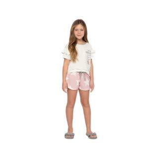 Pijama Lua Luá Curto Kids Pó De Estrela 4211742 Cor:Rosa;Tamanho:10;