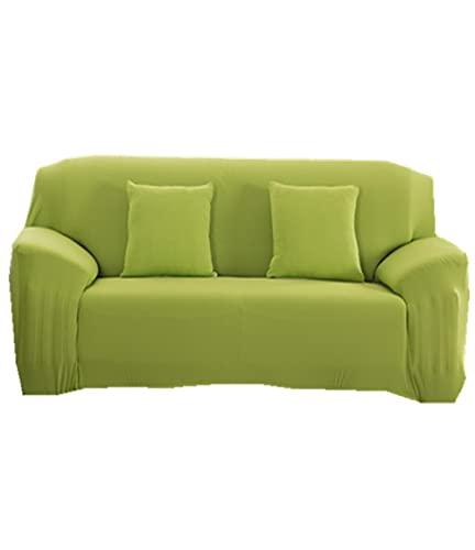 ROMDEANK Funda Sofa 1/2/3/4 Plazas Fundas de Sofa Elasticas Cubre Antideslizante/Protector Ajustables de Sofá , Estampada Cubre Sofa(Verde,3 Asiento 190CM—230CM)