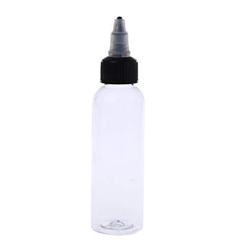 BANGNA 60ml 2OZ Twist Cap Botella de Pigmento de Tinta de Tatuaje de plástico vacía Suministro