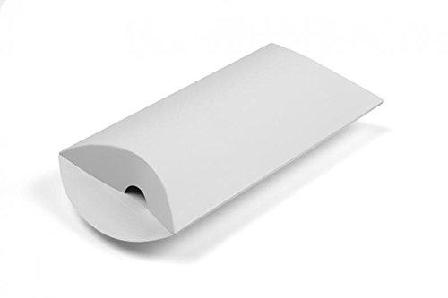 takestop® Set van 10 stuks snoepjes doos wit envelop 29 x 10 cm hoogglans papier gastgeschenk bruiloft