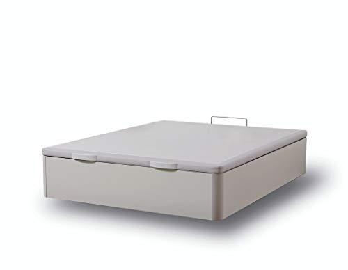 IKON SLEEP Canapé Abatible Fénix de Madera Blanco 120x190 cm - Montaje a Domicilio   Gran Capacidad   Esquinas de Madera