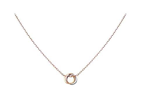カルティエ TRINITY NECKLACE トリティ ネックレス (ホワイトゴールド、イエローゴールド、ピンクゴールドB7224574)