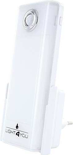 SCHWAIGER -661637-LED luz nocturna   luz de emergencia   linterna   detector de movimiento   sensor de inducción para el enchufe   luz para dormir   sensor de luz   luz multifuncional
