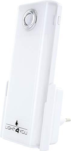 SCHWAIGER -661637-LED luz nocturna | luz de emergencia | linterna | detector de movimiento | sensor de inducción para el enchufe | luz para dormir | sensor de luz | luz multifuncional