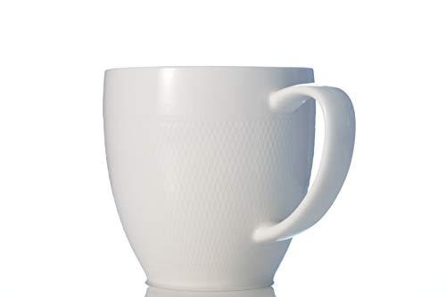 Zevryn Home Essence Geprägt Kaffeetasse, teetasse | Becher, Weiß 330ml Porzellan