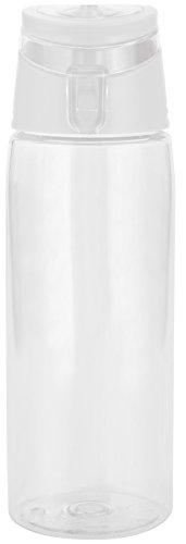 zak! Trinkflasche 750ml, Kunststoff, Weiß/Transparent, 45x20x15 cm