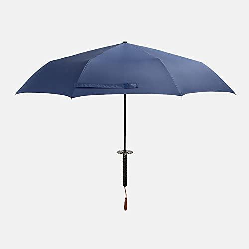 Pliant Homme Automatique Parapluie Pluie Femmes Japonais Samouraï Épée Couteau Parapluie Coupe-Vent Créatif Femelle Mâle Voiture Grand Parasol