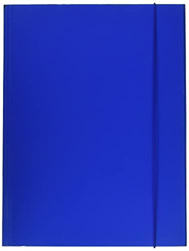ESSELTE C41 LINEAR, Cartella a 3 Lembi in Prespan, con Elastico, Formato 25 x 35 cm, Blu, 390341050