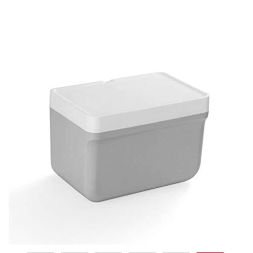 Soporte de toalla de papel para encimera Papel Higiénico de la caja impermeable soporte de papel rectángulo del estante de almacenamiento de montaje en pared creativo del rollo de papel titular dispen