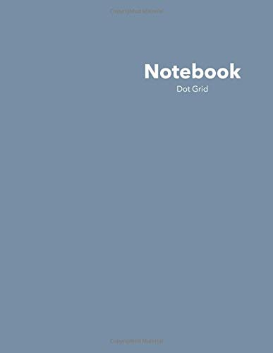 Dot Grid Notebook: Stylish Jean Jacket Blue Notebook, 120 Dotted Pages 8.5...