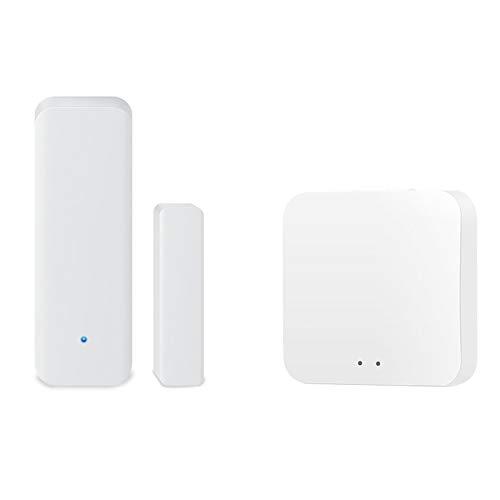 ZigBee Sensor de puerta y Windows, sensor inteligente inalámbrico compatible con Alexa IFTTT Remote Monitor App Notificaciones