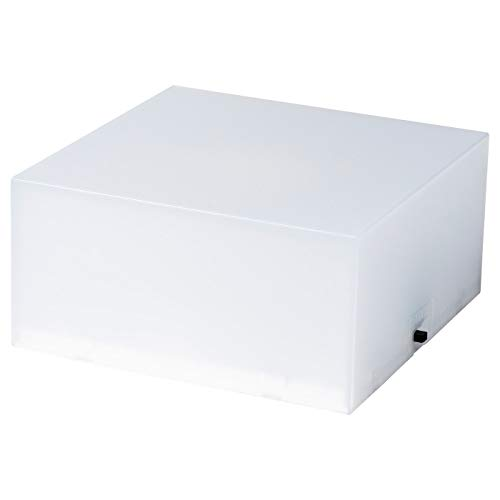 Lautsprecherbasis mit Beleuchtung, weiß, Maße aufgebaut: Breite: 10 cm, Tiefe: 10 cm, Höhe: 5 cm