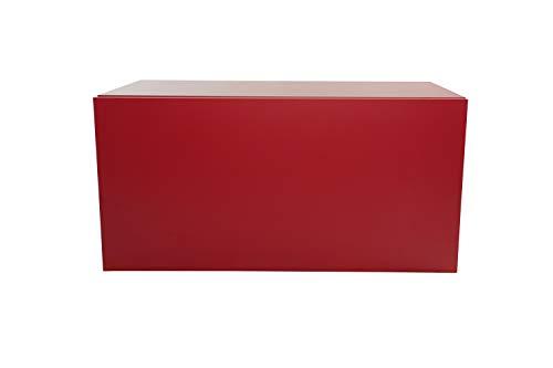 Pequeño Mueble de Madera, Estante, estantería, librería, mesilla de Noche, Mueble, Cubo, Organizador de Espacio para Dormitorio, salón, Cuarto de baño, Cocina. 365x730x330 mm (Rojo)