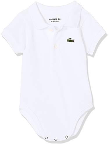 Lacoste 4J6963 Body, Blanco (Blanc), 0-6 Meses (Talla del Fabricante: 6M) para Bebés