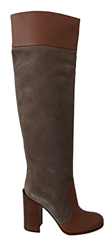 Dolce & Gabbana Brown Leather Knee High Boots Size 8.5 US