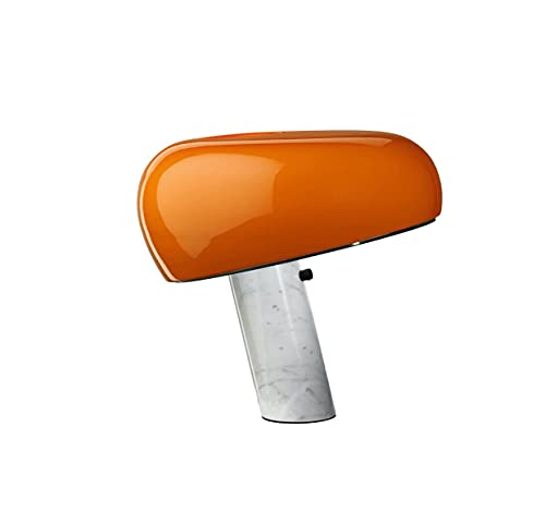 Flos Snoopy Touch - Lámpara regulable de mesa, reflector naranja Aquiles, Castiglioni & Pier Giacomo