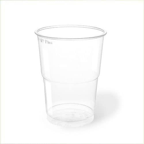Virsus 300 Bicchieri kristal 300 ml in PLA 6 CF x 50pz per Birra Cocktail Bar Biodegradabili e Compostabili rispetta l'ambiente NaturaBio
