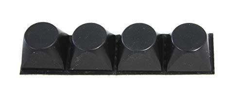 Bumpons 3M Elastikpuffer selbstklebend in schwarz aus Kunststoff als Möbelfüße oder Stopper (10 er-Set Trapez rund)
