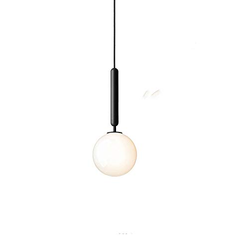Naiyn Lámpara Colgante nórdica posmoderna Minimalista de una Sola Cabeza Bola de Cristal Creativa Lámpara Colgante Dormitorio Tienda de Ropa Luz Colgante Barra de Cocina Lámpara Colgante G9