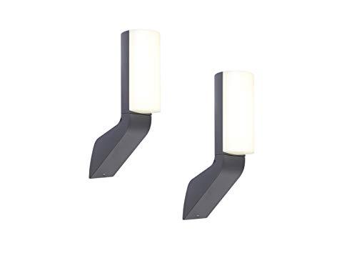 Lutec hoogwaardige LED-buitenverlichting met modern design van aluminium in antraciet, IP44