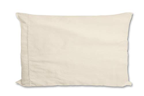 Camille 92S279 Ochre Sun Funda de Almohada Americana, Algodón beige, 50 x 75 cm