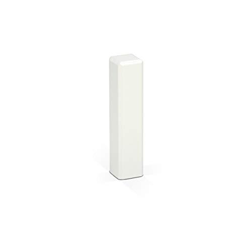 KGM 4x Eckturm Vorteilspack – Weiß lackierte Innen-, Außenecke oder Verbinder zwischen den Sockelleisten – Auch als Endkappe, Abschluss & Endstück geeignet – Maße: 21 x 21 x 85 mm – 4 Stück