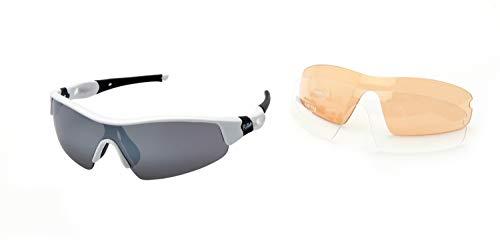 Ravs Kontrastverstärkte Sportbrille Sonnenbrille - Kitesurfbrille Radbrille Bergbrille Schutzbrille Unisex inkl. 3 Wechselgläser