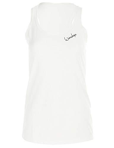 Winshape Damen Ultra leichtes Modal-Tanktop MCT006, Dance Style, Fitness Freizeit Sport Yoga Workout, vanilla-Weiss, S