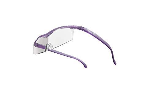 Hazuki ハズキルーペ 直営店 公式店 限定 倍率交換保証付き コンパクト 1.85倍 クリアレンズ ニューパープル ハズキ 拡大鏡 ルーペ メガネ型 眼鏡型 めがね型 メガネ 眼鏡 めがね 日本製 MADE IN JAPAN ギフト